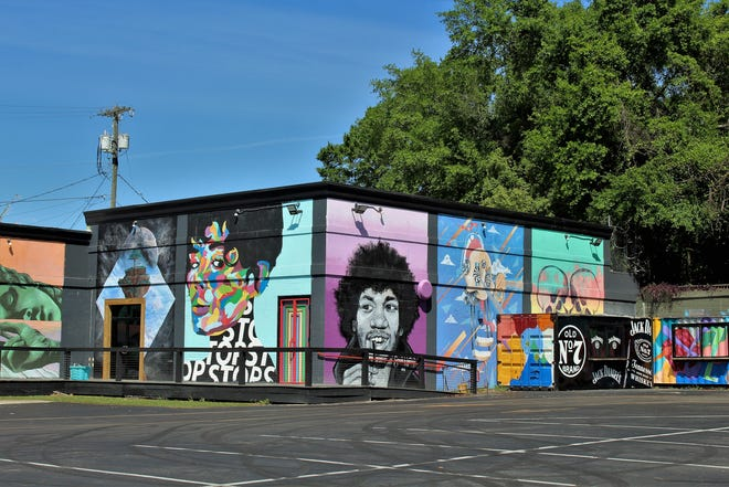 The Good Vibes wall will be part of guided walk through the Gaines Street-Railroad Square district on Sept. 4.