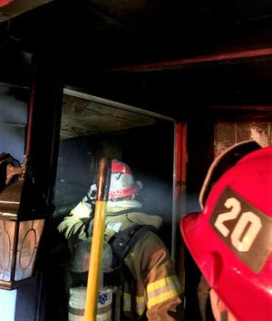 Tulare County and Farmersville firefighters responded to multiple residential structure fires in the 300 block of South G Street in Exeter on Friday, July 23, 2021.