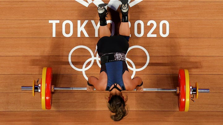 Jourdan Delacruz was disappointed with her finish in women's weightlifting on Saturday.