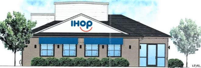 This is what the front of the proposed IHOP restaurant on East Aurora Road would look like. The building formerly housed Pizza Hut. MACEDONIA BUILDING DEPT.