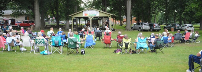 A large turnout of fans enjoy The Hot Potatoes during the second show of the Summer Concert Series on Saturday, July 24, 2021, at Southside Park in Sebring.