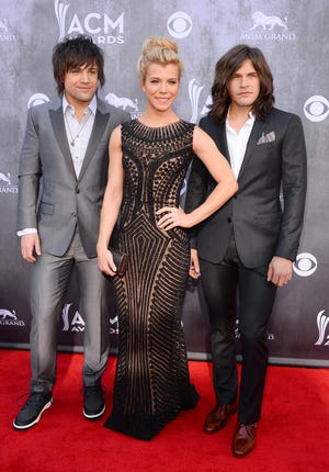 The Band Perry shown here during a music awards event in 2014. The siblings performed Saturday night during the Lancaster Festival.
