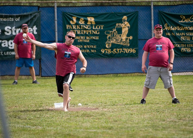 Players take to the field during the fourth annual Wifflin' for Wishes Wiffle Ball tournament in Leominster to benefit Make-A-Wish Massachusetts and Rhode Island.
