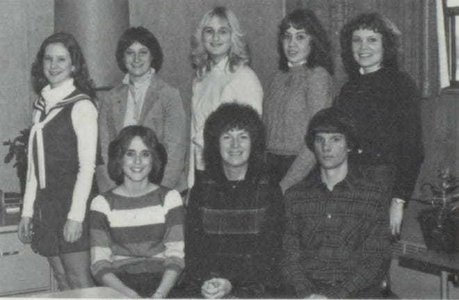 Pictures of the Past is from the 1982 Lincoln Community High School yearbook. It shows members of the Senior Class officers. Seated are: Lori Brooks, president, Sheila Armitage, sponsor and Jeff Bierman, vice-president. Second row: Dena Atteberry, representative, Brenda DeWeese, secretary-treasurer, Lisa Beck, representative, Cindy Robinson, respresentative, Gail Peters, representative. Not pictured are Carol Mitchell, class sponsor and Julie Hilpert, representative.