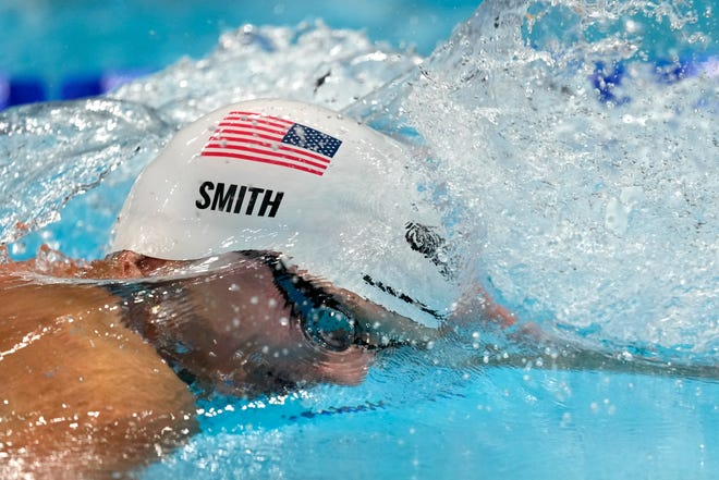 Kieran Smith, of the United States, won the bronze medal in the men's 400-meter freestyle at the 2020 Summer Olympics.