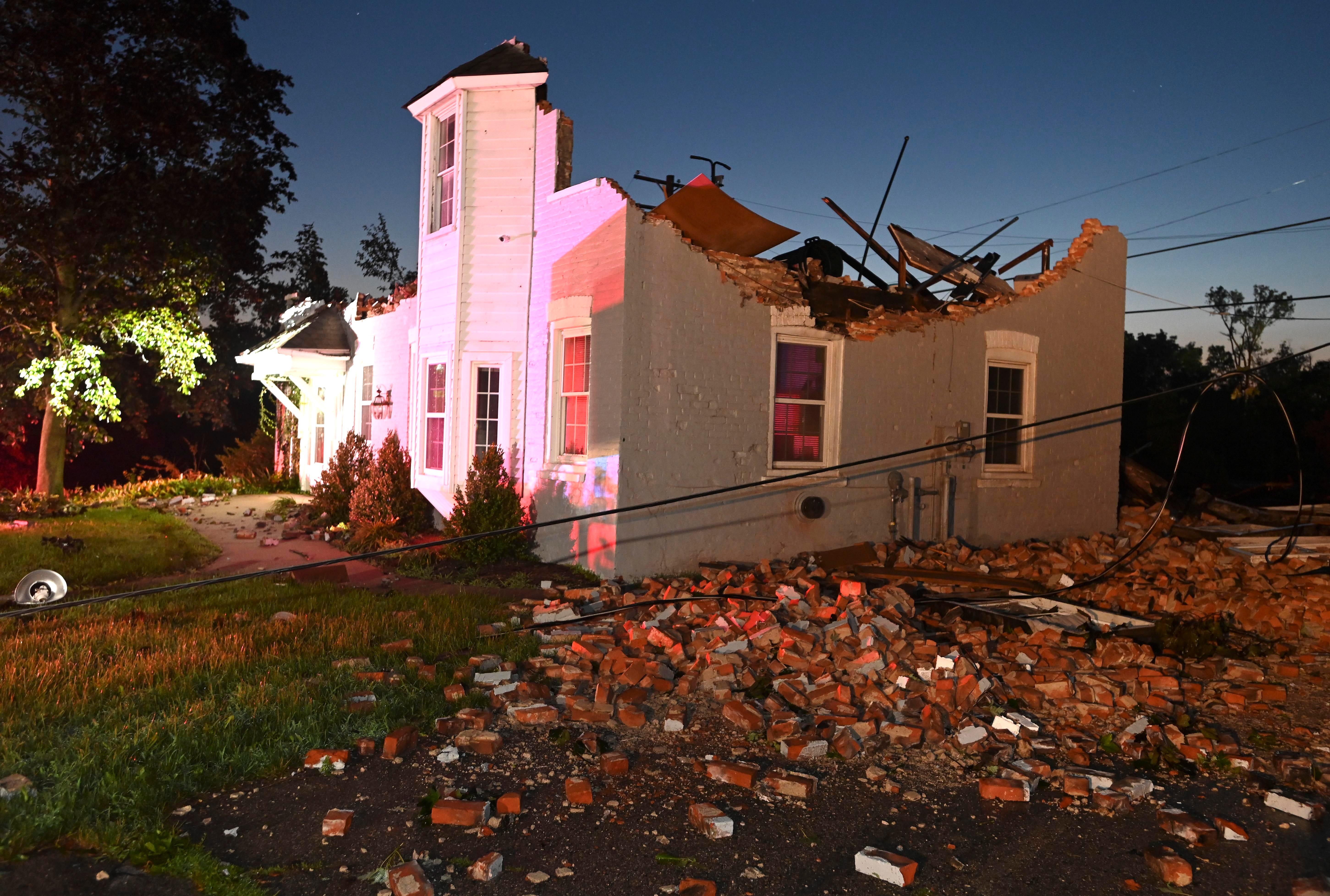 Suspected tornado terrifies Armada residents, leaves trail of damage