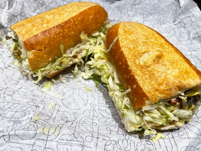 Tuna salad sub from the Publix deli, South Naples.