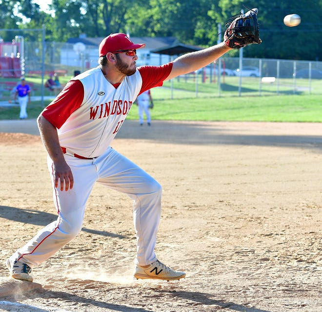 Grant Schwartz, seen here in a file photo, drove in six runs on Sunday in Windsor's win over Felton.