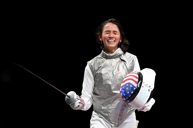 US fencer Lee Kiefer makes history, winning gold in women's individual foil