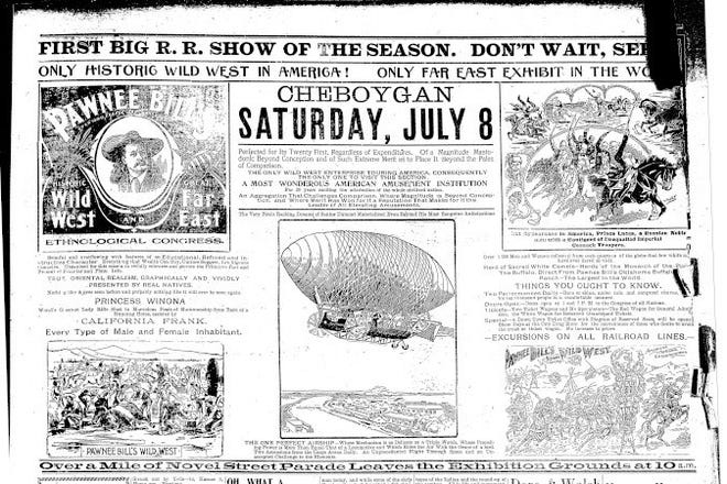 Cheboygan Show Bill from when the act was coming to the area.