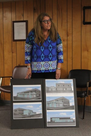 Jane Cutter, owner of the former Zany Kitchen Building at the corner of Main Street and Division Street, recently presented to the Cheboygan City Council members on the plans to renovate the building and bring a coffee roasting business and cafe to that corner.