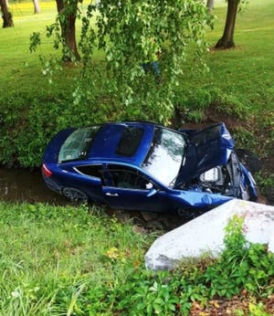 Wreck in Simpson Park July 25.