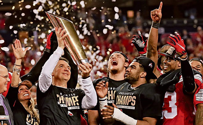 When coach Urban Meyer and the Ohio State Buckeyes won the national championship January 12, 2015, it was the 15th game they'd played that season, the longest campaign in OSU history.