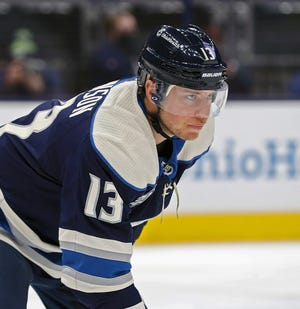 Cam Atkinson, traded to Philadelphia on Saturday, is second behind Rick Nash on the Blue Jackets' all-time listsfor games played, goals and points.
