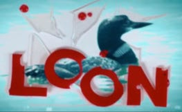 "The ""LOON!"" film logo"