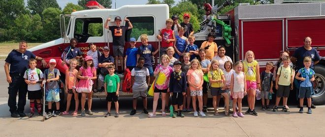 The Club Kid kids are pictured at the Crookston Fire Department.