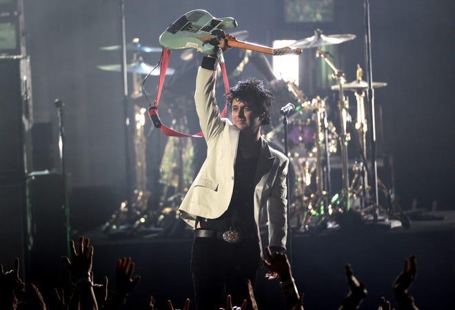Billie Joe Armstrong and Green Day headline Saturday's Hella Mega Tour, shown here at a gig at TIAA Bank Field, in Florida.