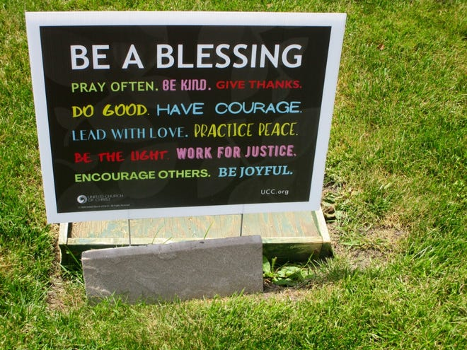 Passers-by on South State St. in Geneseo may have already seen the sign on the east side of First Congregational Church United Church of Christ of Geneseo. If not, it is well worth the time to either drive or walk by and read the message.