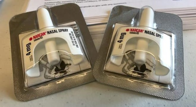 Narcan nasal spray is used to counter the effects of an opioid overdose.