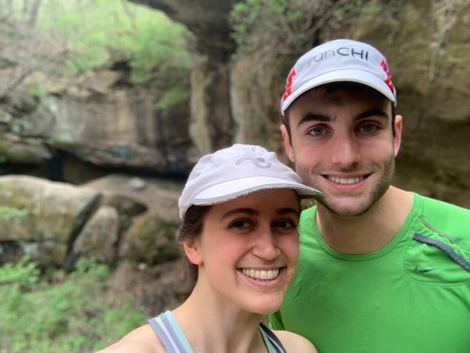 Hannah Alani hiking Rocky Glen Park in Peoria with her boyfriend.