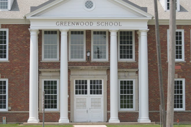 The front entryway of the Greenwood School, which will soon become the Greenwood Interprofessional Autism Center.