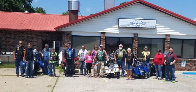 Bucklin Riders meet at Brookfield  Chapter 57 Bucklin American Legion Riders met Saturday, July 24, for a noon meal at the Brookfield Cafe. Chapter Director Robert Maddox announced the Chapter donated $3,000 to the American Legion Legacy Scholarship for college for children of American military that died on active duty, after Sept. 11, 2001.