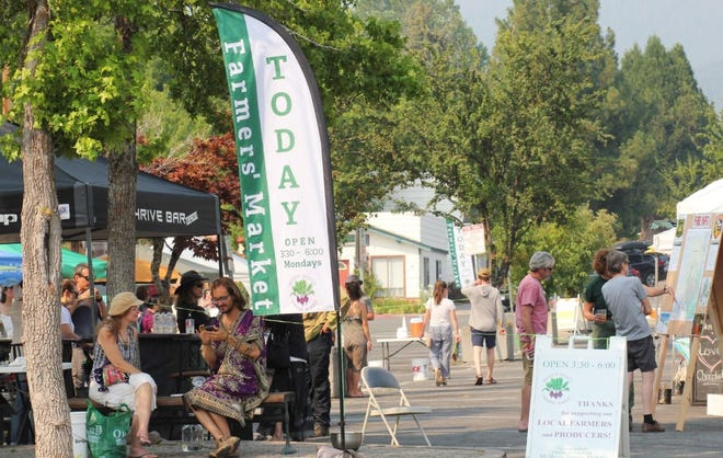 Mount Shasta Farmers Market is celebrating National Farmers Market Week next Monday, Aug. 2, 2021, from 3:30 to 6 p.m. on E. Castle Street in downtown Mount Shasta.