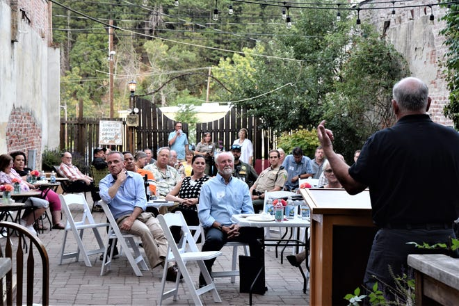Mount Shasta City Council member John Stackfleth reports on his city's progress since the COVID pandemic during the quarterly meeting of League of Local Agencies (LOLA) which took place on July 21, 2021 in Dunsmuir.