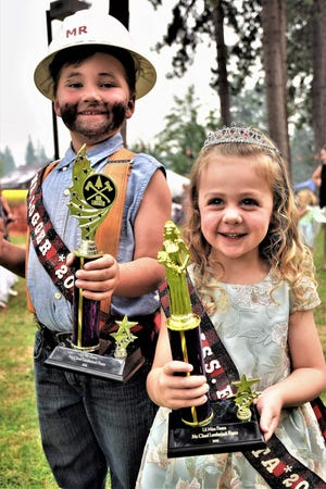 6-year-old Sterling Trout and 3-year-old Kinley Marie were crowned Mr. Logger and Little Miss Fiesta on Friday's night competition during the 74th McCloud Lumberjack Fiesta.