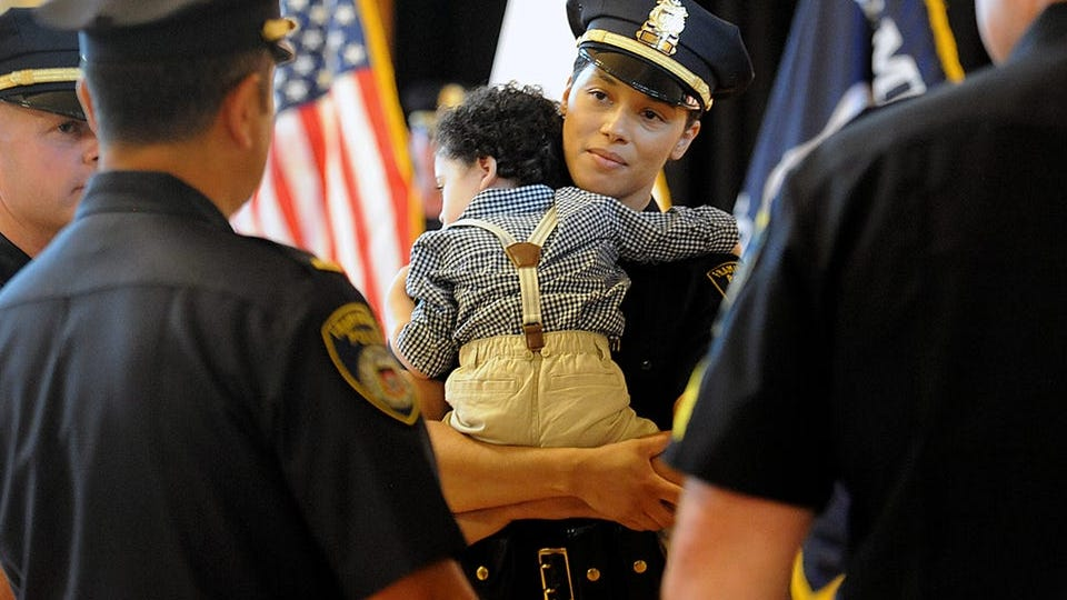 Less than 13% of police officers are women. Can that change? Female officers explain how