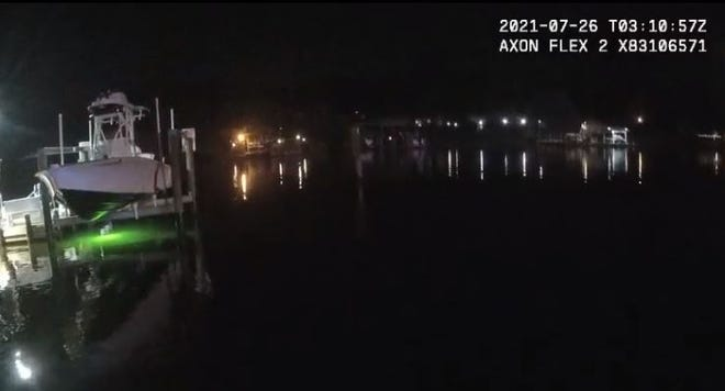Okaloosa County Sheriff's Office body camera footage shows the scene where a 59-year-old man reportedly drowned Sunday off Water Street in Fort Walton Beach.