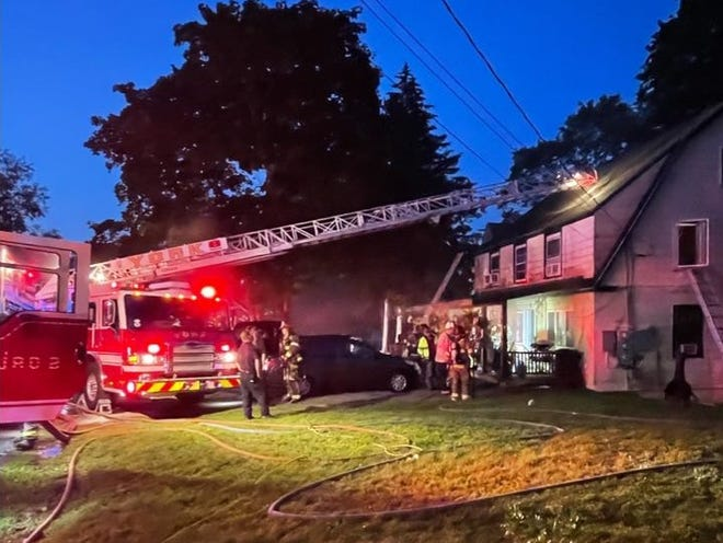 Multiple fire departments responded Friday, July 23, 2021, to a home fire in the York Village Fire Department District. The fire appeared to be caused by a furnace issue, according to the York Beach Fire Department.There were no reported injuries to occupants or fire personnel.