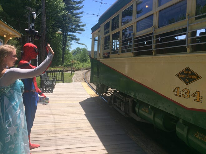 Take an adventure to Seashore Trolley Museum on Superhero & Royalty Day on Saturday, Aug. 7 for your chance to meet Elsa and Spiderman.