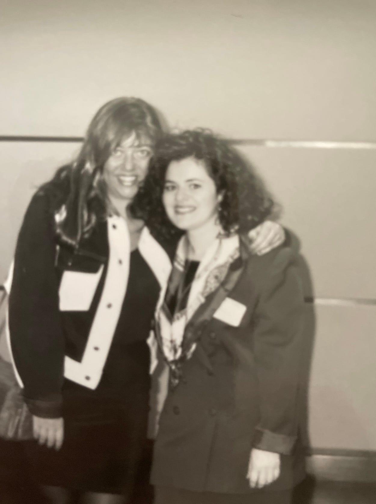Estelle Hedaya, left, and friend, Sharona Abadi.