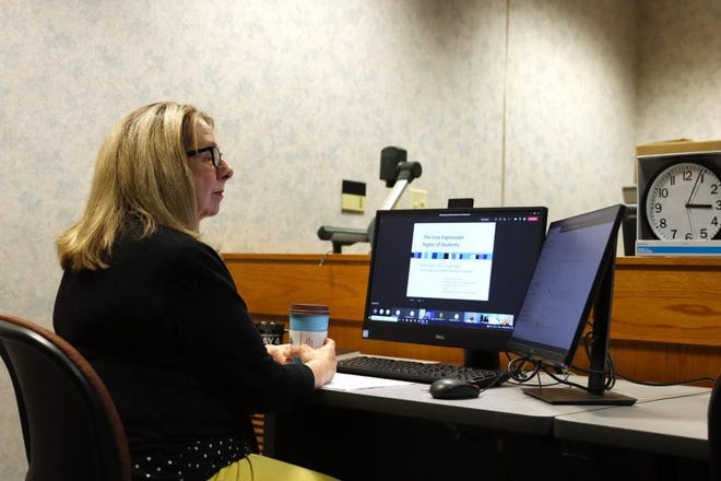 """Laura Davis, Ph.D., professor Emerita of English at Kent State and former founding director of the May 4 Visitors Center, co-taught a week-long virtual workshop on the May 4 shootings: """"Making Meaning of May 4: The 1970 Kent State Shootings in U.S. History."""""""
