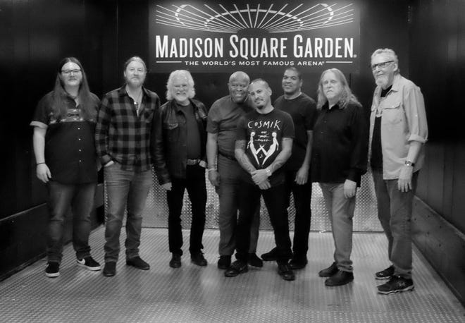 The Brothers, from left, are Duane Trucks, Derek Trucks, Chuck Leavell (special guest), Jaimoe, Marc Quinones, Oteil Burbridge, Warren Hayne and Reese Wynans.