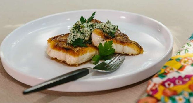 Pan Roasted Fish With Herb Compound Butter
