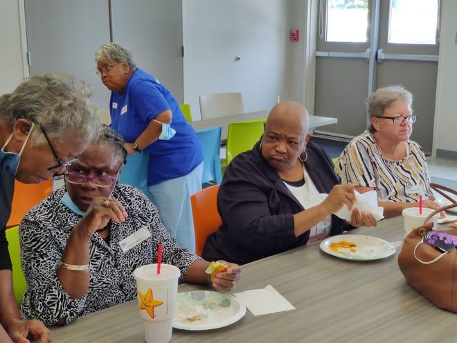 Pictured from left, Senior Community Service Employment Program job developer Eva Williams, and participants, Lauretta Murray, Caroyln Wade, and Deborah Boggs.