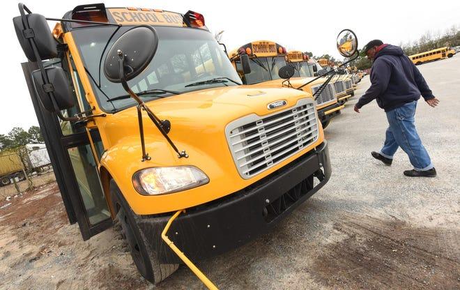 New Hanover County School buses