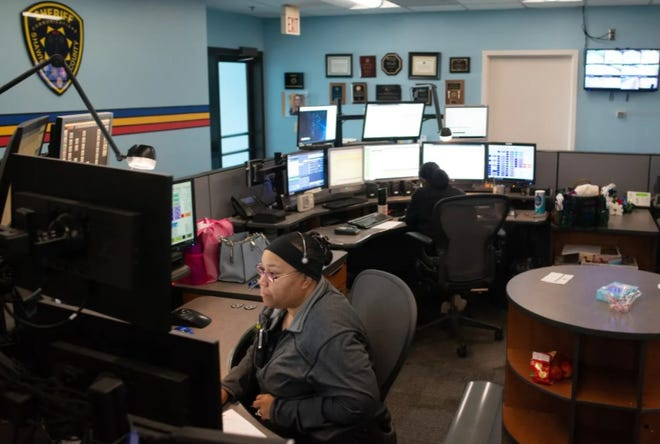 Dispatchers in the Shawnee County Emergency Communications Center were able to answer calls during an AT&T outage Sunday because the system rolls calls onto administrative lines in that scenario.