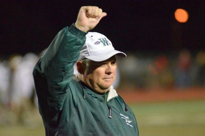 Former Waxahachie head football coach David Ream is shown in this 2014 file photo before his retirement from coaching. Ream, who coached the Indians for 15 seasons, died on Friday. He was 65.