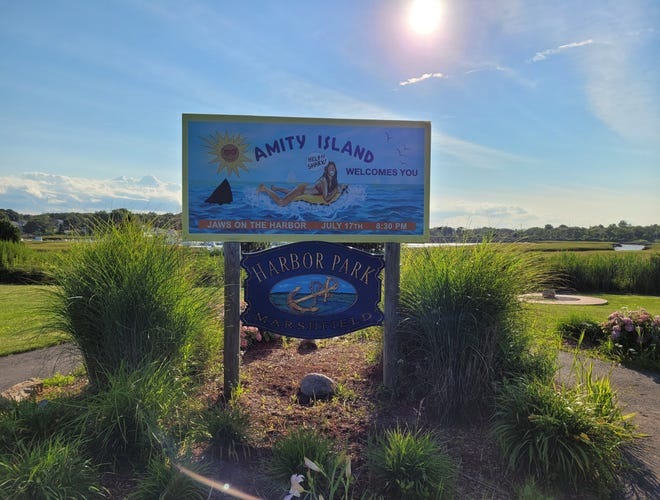 """Marshfield Kiwanis and the Molly Fund co-sponsored the annual """"Jaws on the Harbor"""" event July 24 in Marshfield's Harbor Park next to the Marshfield town pier."""