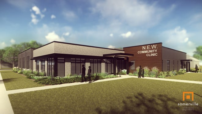 Here's a rendering of what the new N.E.W. Community Clinic will look like when it's built.