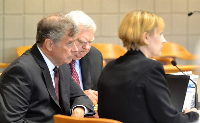 The prosecutors in the trial of Raymand Vannieuwenhoven, seen on Monday, July 26, are from left, Special Prosecutor Don Gahn, Special Prosecutor Mark Williams and Marinette County District Attorney DeShea Morrow.