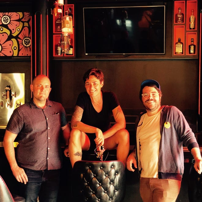 The owners of The Wiggle Room are DC Denison, Emily Ruff and Stanley Chase (left to right).