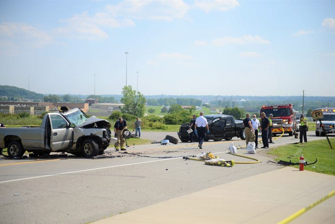 One man was killed in a crash along Ohio 13 on Monday afternoon