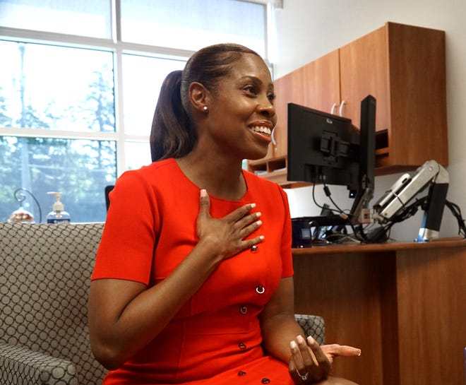 Embekka Roberson, the new Birmingham Schools Superintendent, talks about how she'll approach her job in the district's offices on July 26, 2021.
