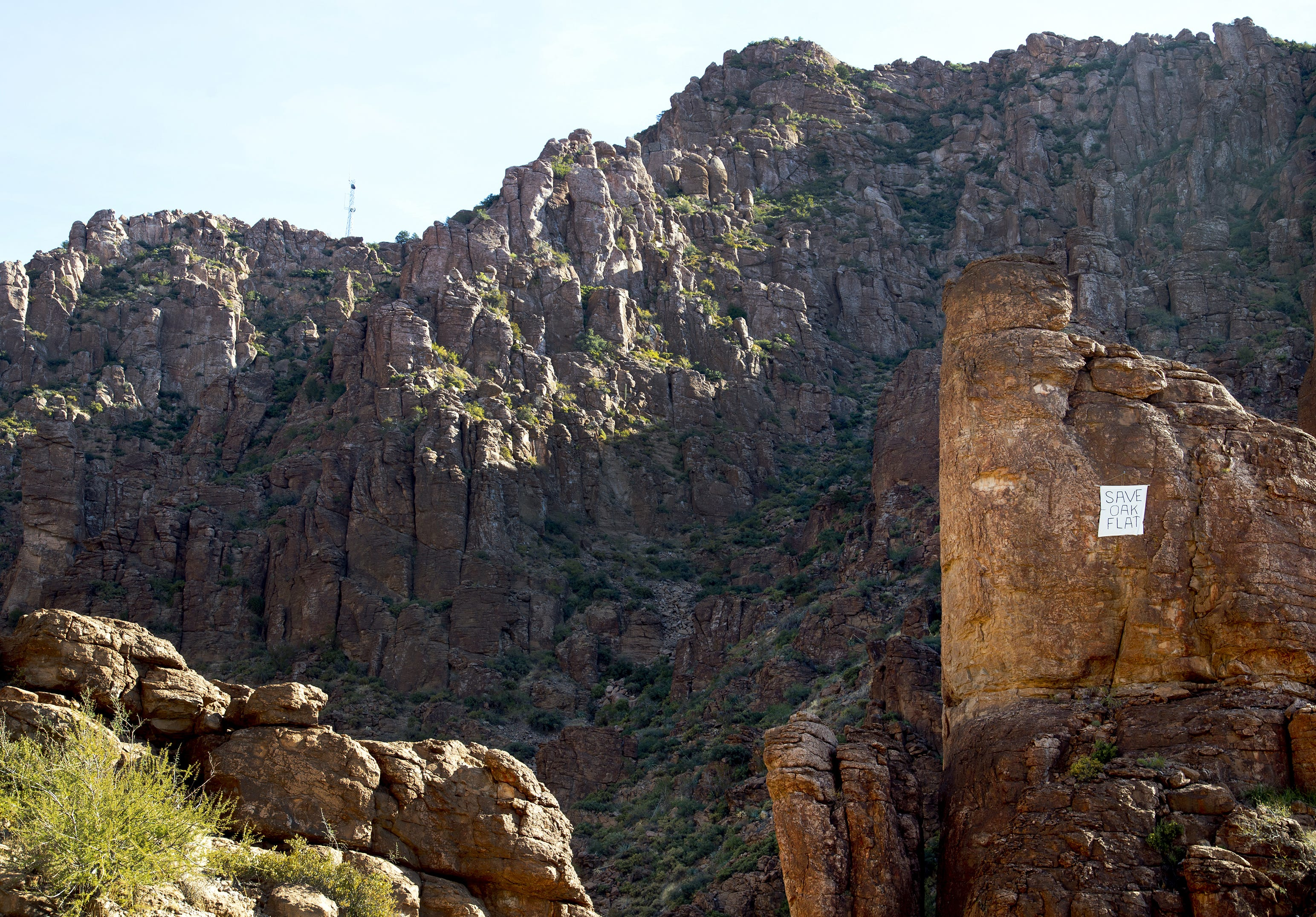 Resolution Copper wants to exact the copper from Oak Flat, a campground that is part of the Tonto National Forest near Superior. The method of extraction that the mining company wants to use will eventually create a giant sinkhole.