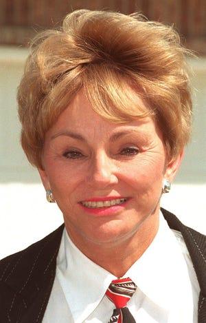 Carol Jones at a 1998 news conference.