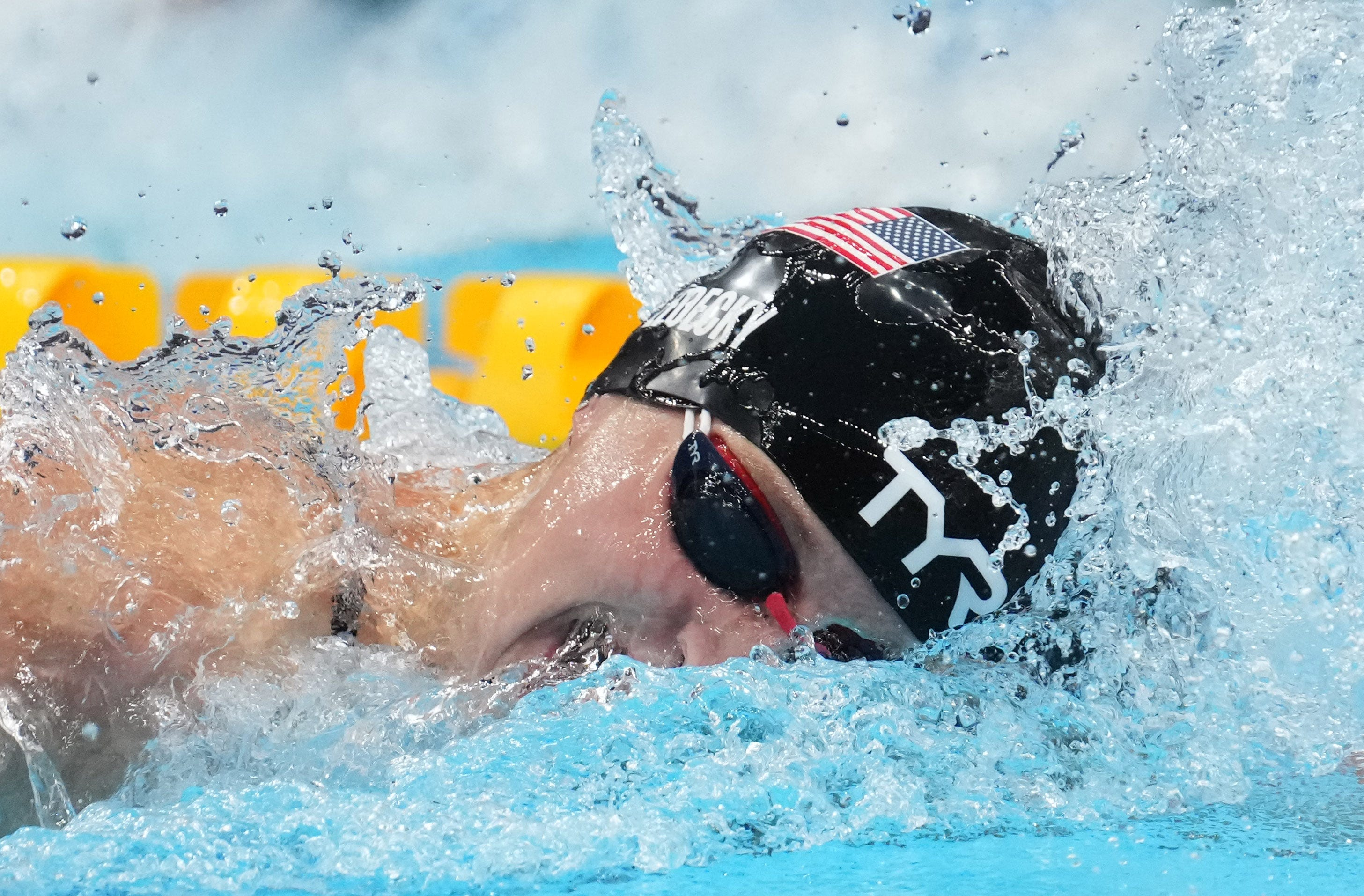 Katie Ledecky wins gold medal in 1,500 freestyle at Tokyo Olympics, US teammate Erica Sullivan takes silver